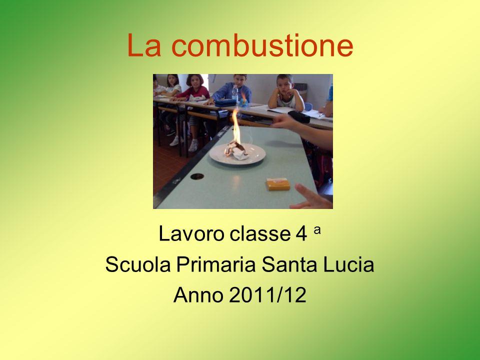 La combustione Lavoro classe 4 a Scuola Primaria Santa Lucia Anno 2011/12