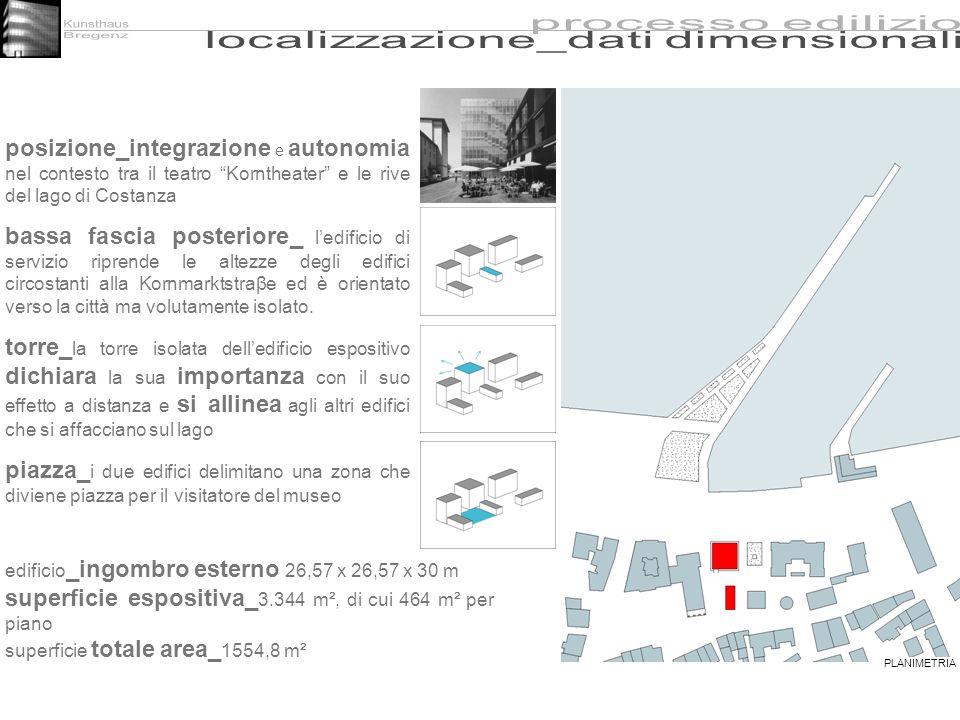 posizione_integrazione e autonomia nel contesto tra il teatro Korntheater e le rive del lago di Costanza bassa fascia posteriore_ ledificio di servizi