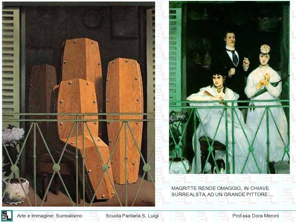 Arte e Immagine: SurrealismoScuola Paritaria S. LuigiProf.ssa Dora Meroni MAGRITTE RENDE OMAGGIO, IN CHIAVE SURREALSTA, AD UN GRANDE PITTORE …
