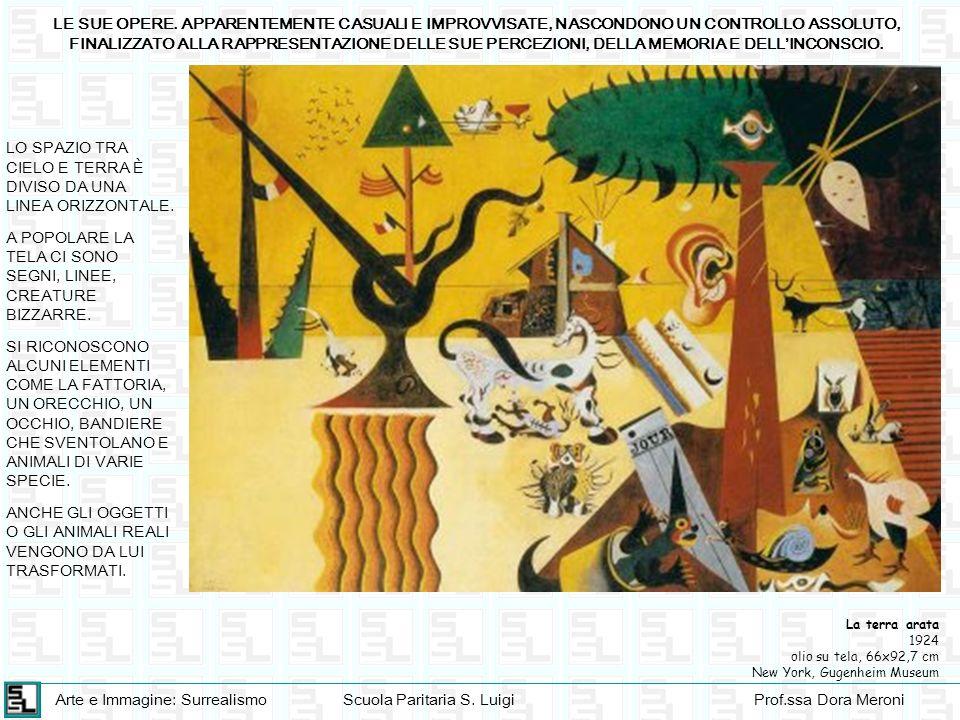 Arte e Immagine: SurrealismoScuola Paritaria S. LuigiProf.ssa Dora Meroni LE SUE OPERE. APPARENTEMENTE CASUALI E IMPROVVISATE, NASCONDONO UN CONTROLLO