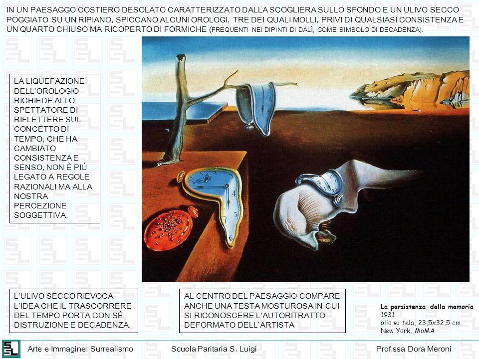 Arte e Immagine: SurrealismoScuola Paritaria S. LuigiProf.ssa Dora Meroni La persistenza della memoria 1931 olio su tela, 23,5x32,5 cm New York, MoMA