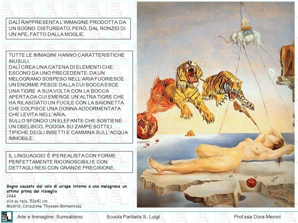 Arte e Immagine: SurrealismoScuola Paritaria S. LuigiProf.ssa Dora Meroni Sogno causato dal volo di unape intorno a una melagrana un attimo prima del