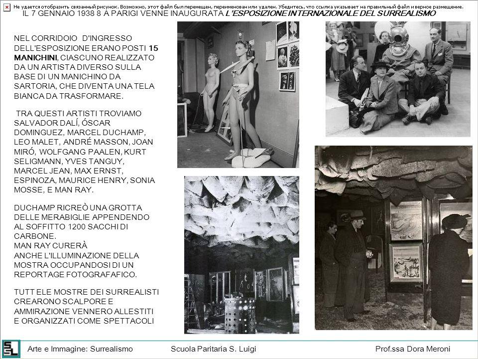 Arte e Immagine: SurrealismoScuola Paritaria S. LuigiProf.ssa Dora Meroni IL 7 GENNAIO 1938 8 A PARIGI VENNE INAUGURATA LESPOSIZIONE INTERNAZIONALE DE