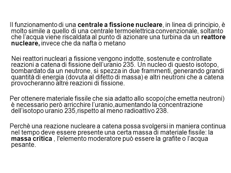 Il funzionamento di una centrale a fissione nucleare, in linea di principio, è molto simile a quello di una centrale termoelettrica convenzionale, sol