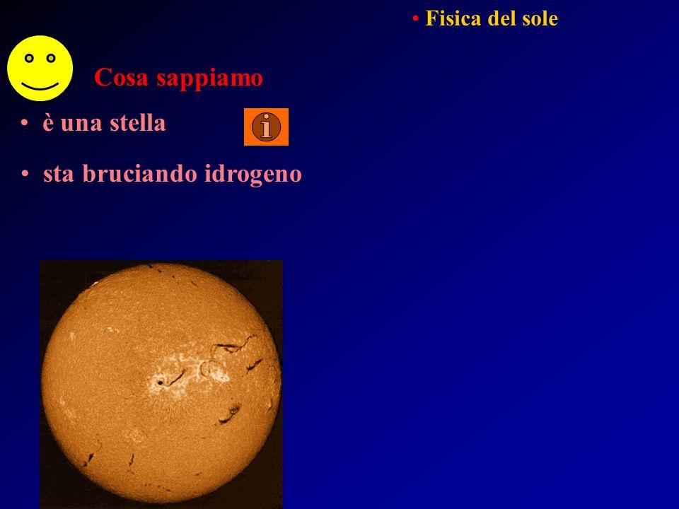 Fisica del sole Fisica delle stelle e del mezzo interstellare ….per esempio….
