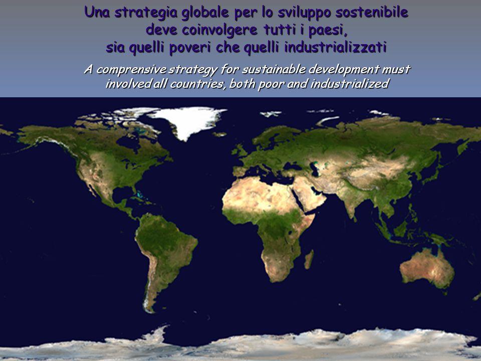 13 ENEA - educarsi al futuro Una strategia globale per lo sviluppo sostenibile deve coinvolgere tutti i paesi, sia quelli poveri che quelli industrializzati A comprensive strategy for sustainable development must involved all countries, both poor and industrialized