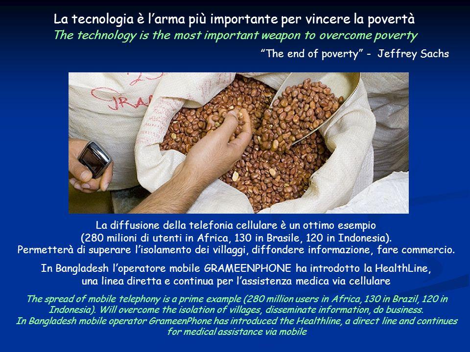 La tecnologia può sconfiggere la povertà La tecnologia è larma più importante per vincere la povertà The technology is the most important weapon to ov
