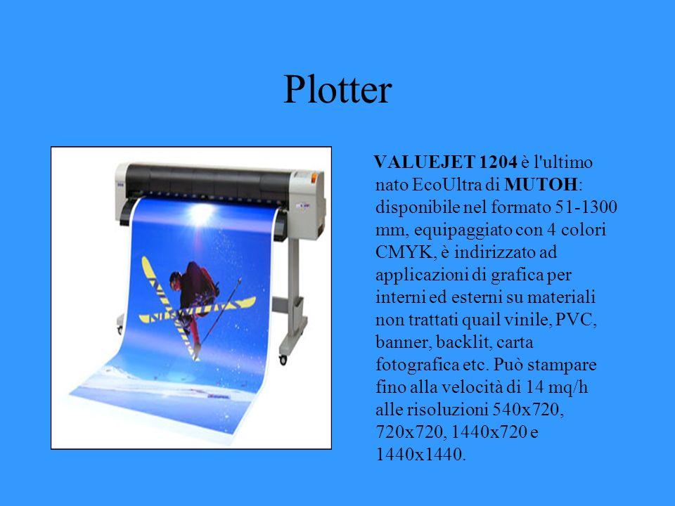 Plotter VALUEJET 1204 è l'ultimo nato EcoUltra di MUTOH: disponibile nel formato 51-1300 mm, equipaggiato con 4 colori CMYK, è indirizzato ad applicaz