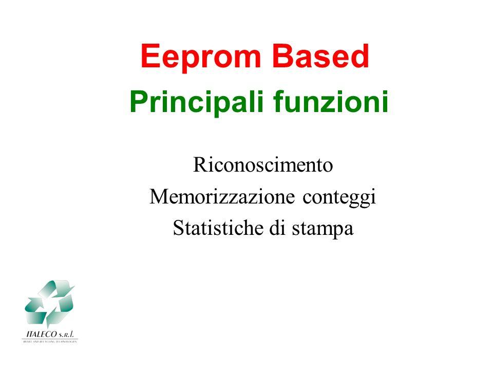 Principali funzioni Eeprom Based Riconoscimento Memorizzazione conteggi Statistiche di stampa