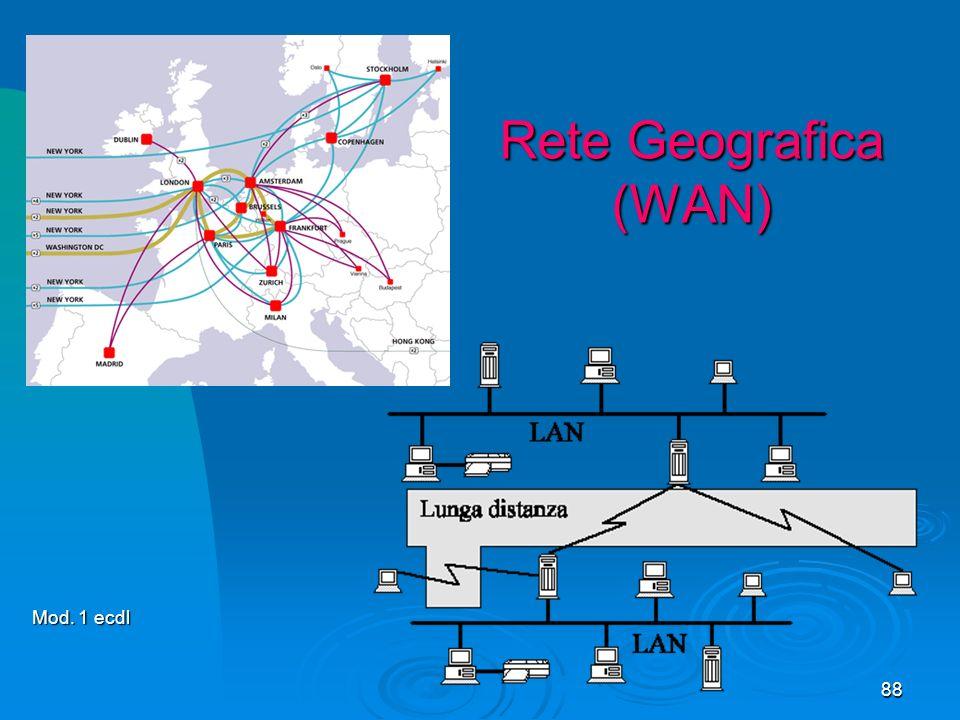 88 Rete Geografica (WAN) Mod. 1 ecdl