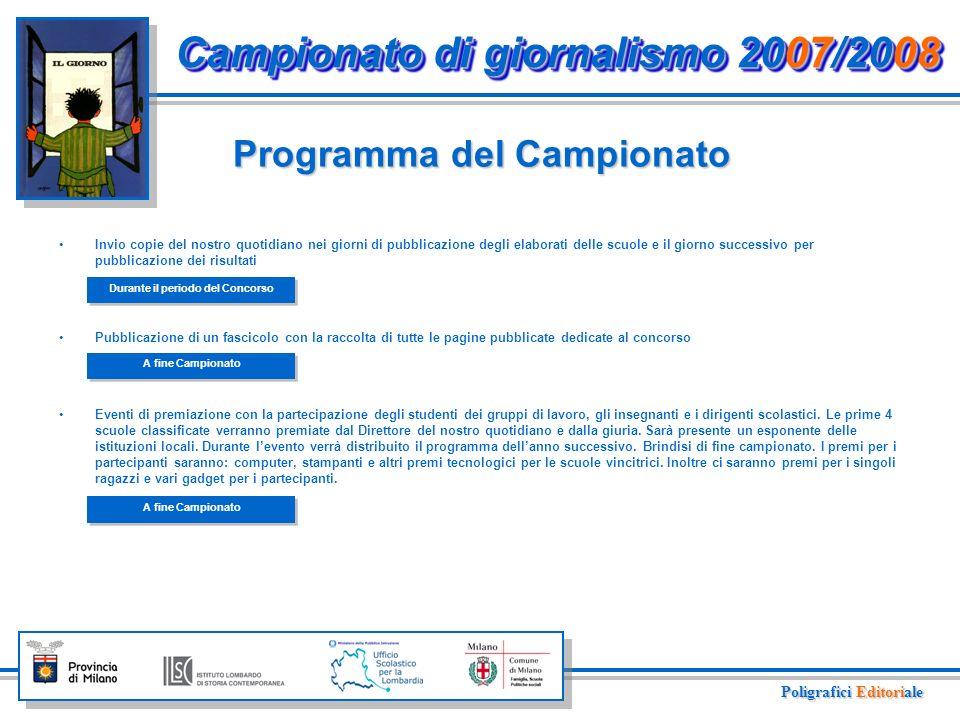 Raccolta adesioni delle scuole medie inferiori della Lombardia.