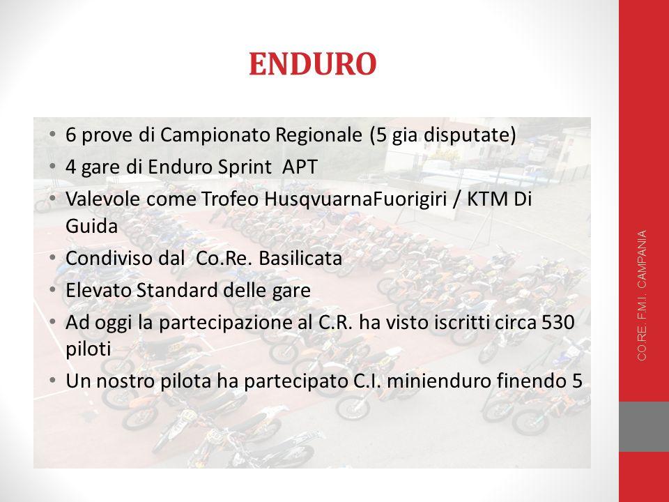 ENDURO 6 prove di Campionato Regionale (5 gia disputate) 4 gare di Enduro Sprint APT Valevole come Trofeo HusqvuarnaFuorigiri / KTM Di Guida Condiviso dal Co.Re.