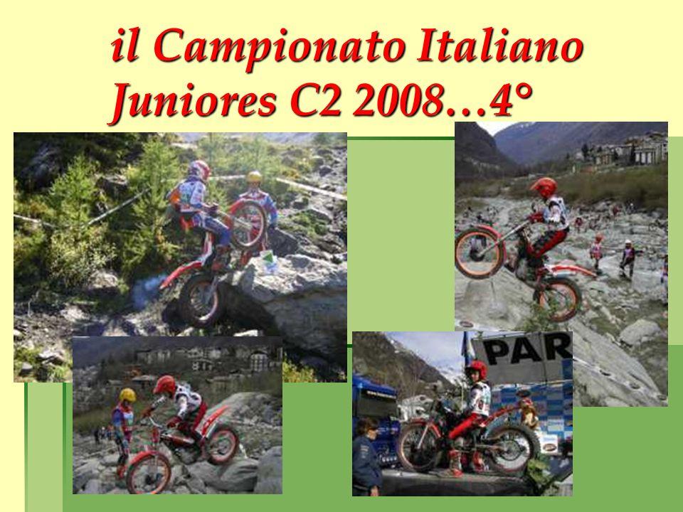 il Campionato Italiano Juniores C2 2008…4°