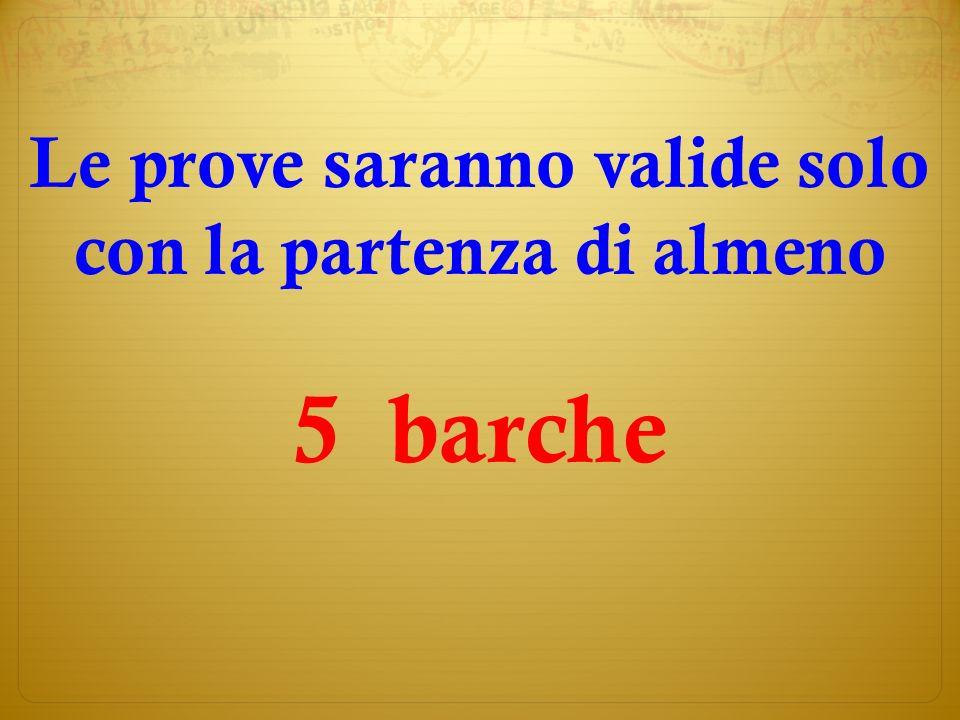 Le classifiche saranno pubblicate sul sito della Velica www.velicatrentina.it www.velicatrentina.it