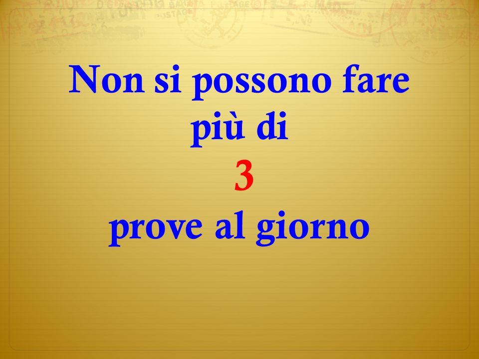 Esempio: 1° 2 Piazza 6 6x0,7 = 4,2 + 0 p.v.= 4,2 2° 12 Casarini 5 5x1 = 5,0 + 3 p.v.