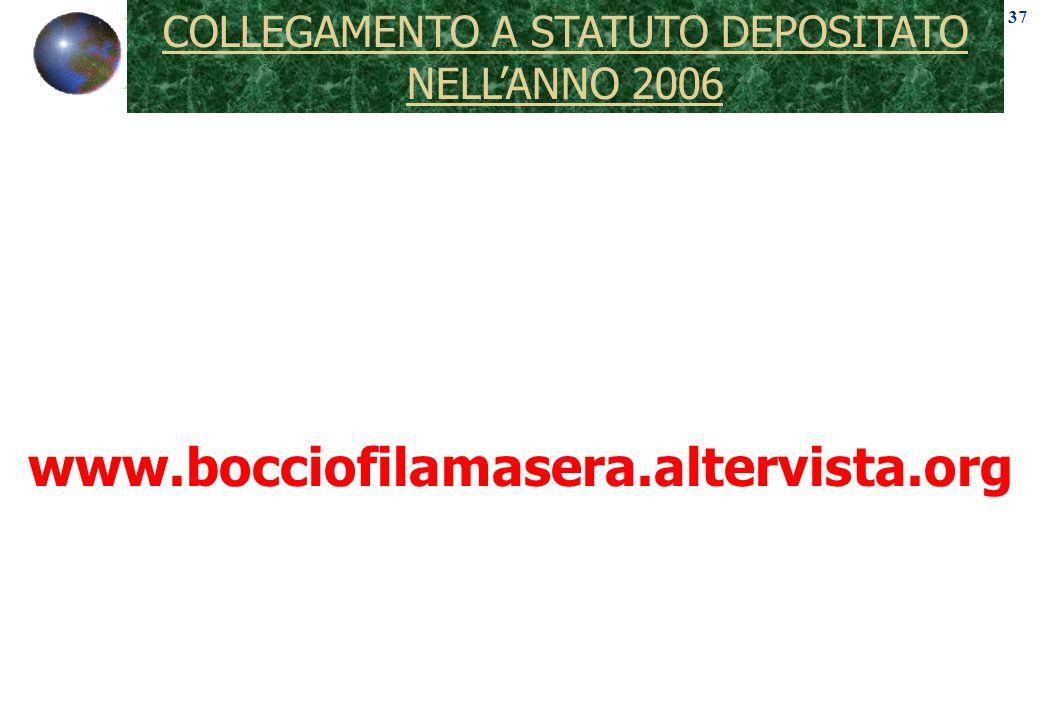 COLLEGAMENTO A STATUTO DEPOSITATO NELLANNO 2006 37 www.bocciofilamasera.altervista.org