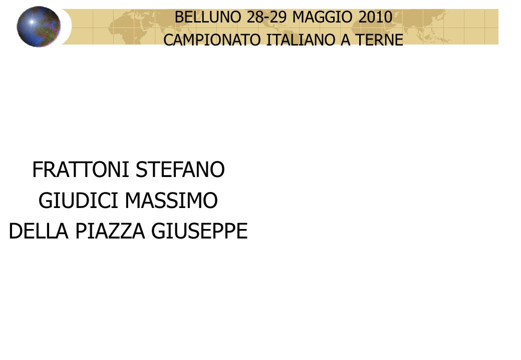 BELLUNO 28-29 MAGGIO 2010 CAMPIONATO ITALIANO A TERNE FRATTONI STEFANO GIUDICI MASSIMO DELLA PIAZZA GIUSEPPE