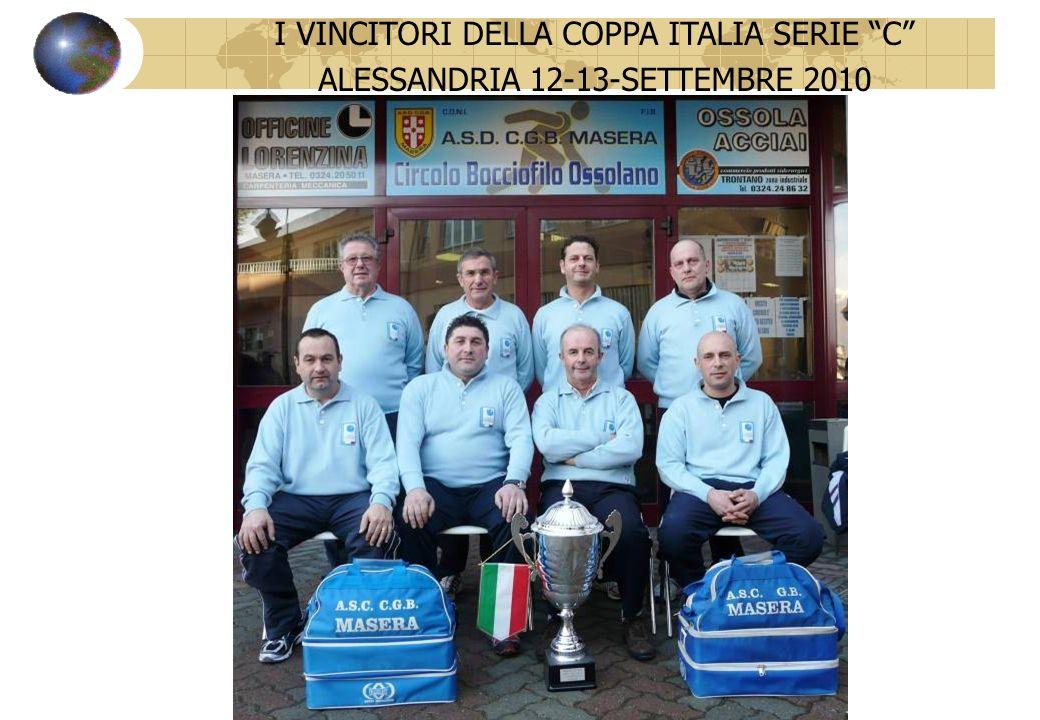 VINCITORI COPPA ITALIA SERIE C 12 - 13 SETTEMBRE 2010 I VINCITORI DELLA COPPA ITALIA SERIE C ALESSANDRIA 12-13-SETTEMBRE 2010