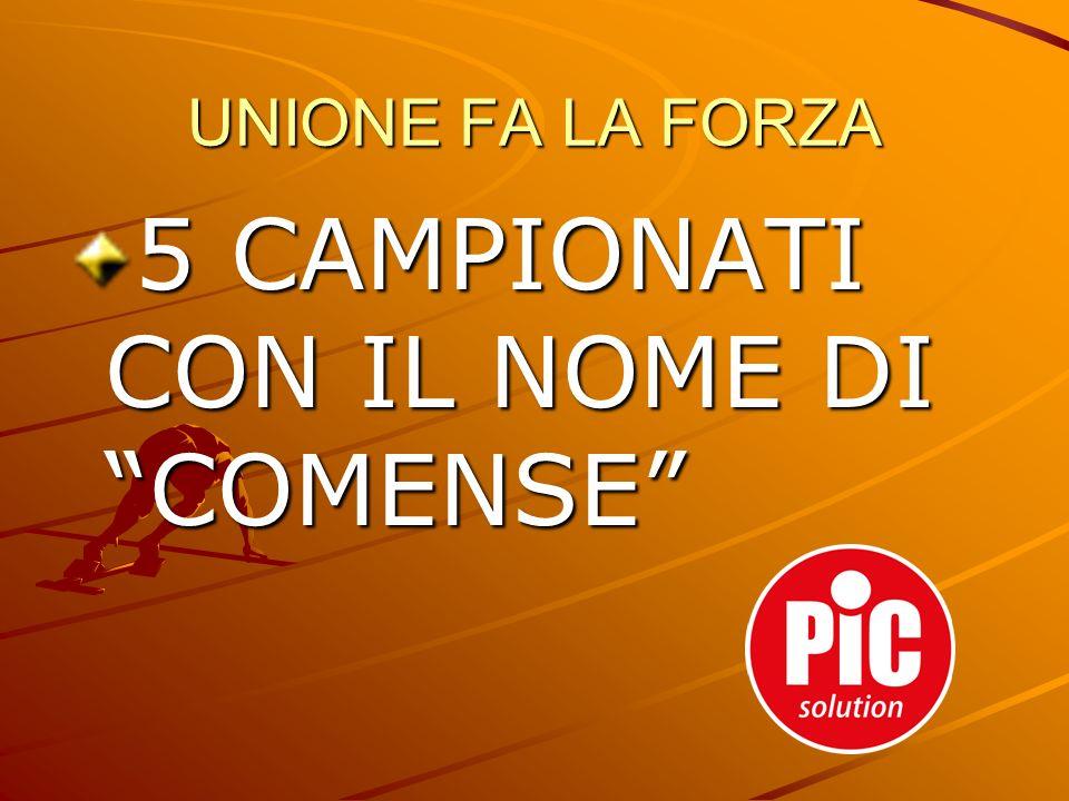5 CAMPIONATI CON IL NOME DI COMENSE