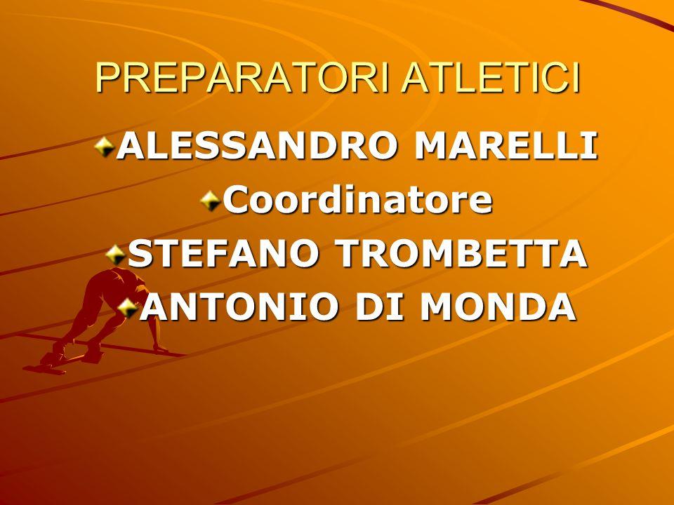 PREPARATORI ATLETICI ALESSANDRO MARELLI Coordinatore STEFANO TROMBETTA ANTONIO DI MONDA