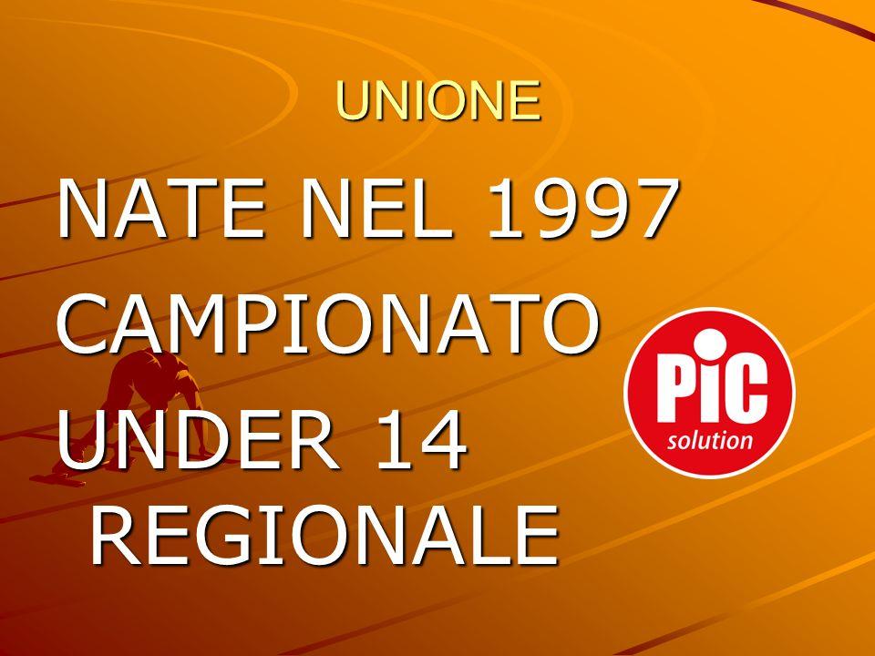 UNIONE NATE NEL 1997 CAMPIONATO UNDER 14 REGIONALE