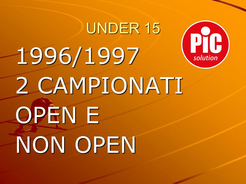 UNDER 15 1996/1997 2 CAMPIONATI OPEN E NON OPEN