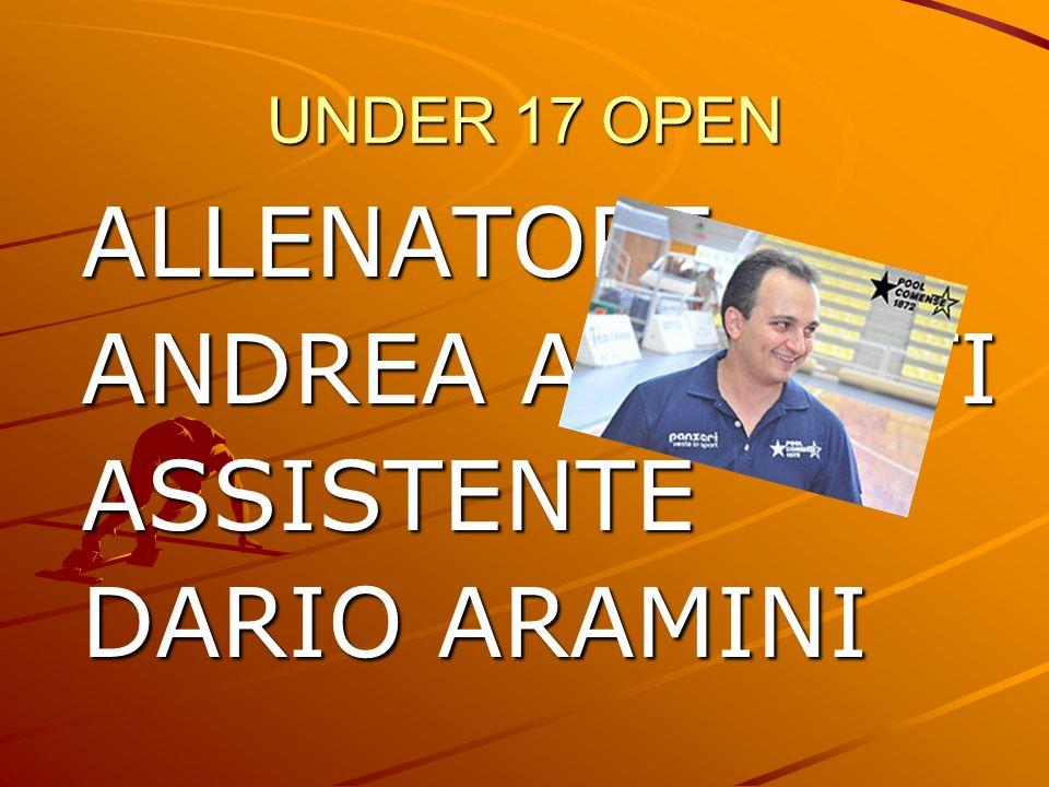 ALLENATORE ANDREA ANILONTI ASSISTENTE DARIO ARAMINI