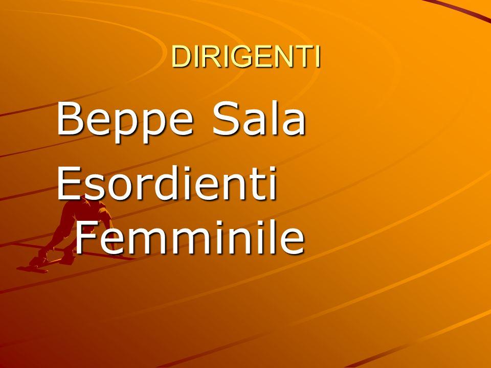 DIRIGENTI Beppe Sala Esordienti Femminile