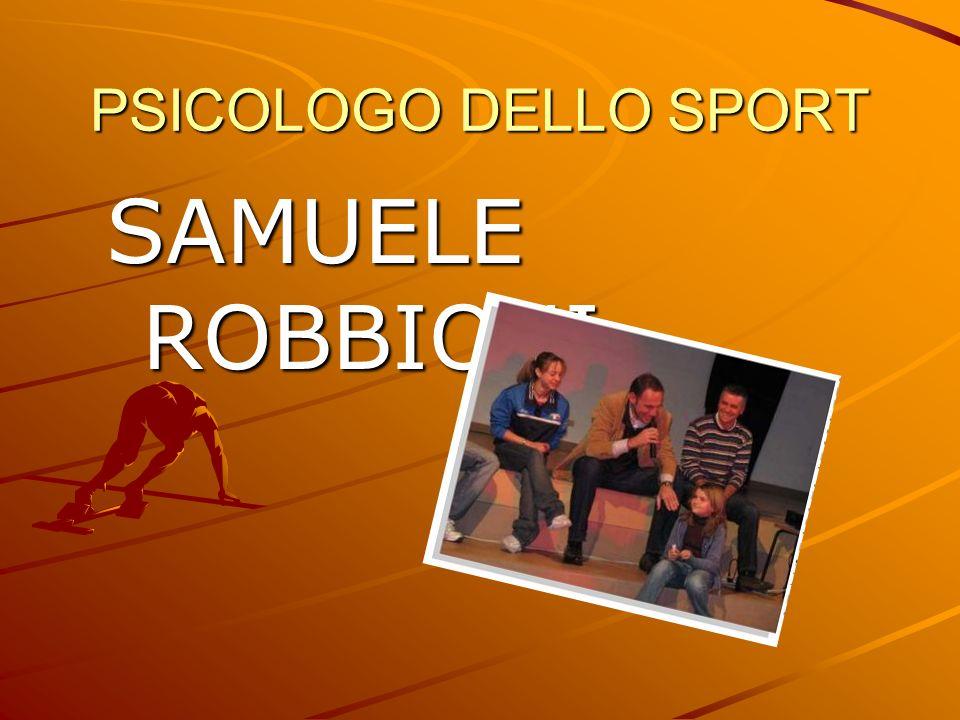 PSICOLOGO DELLO SPORT SAMUELE ROBBIONI