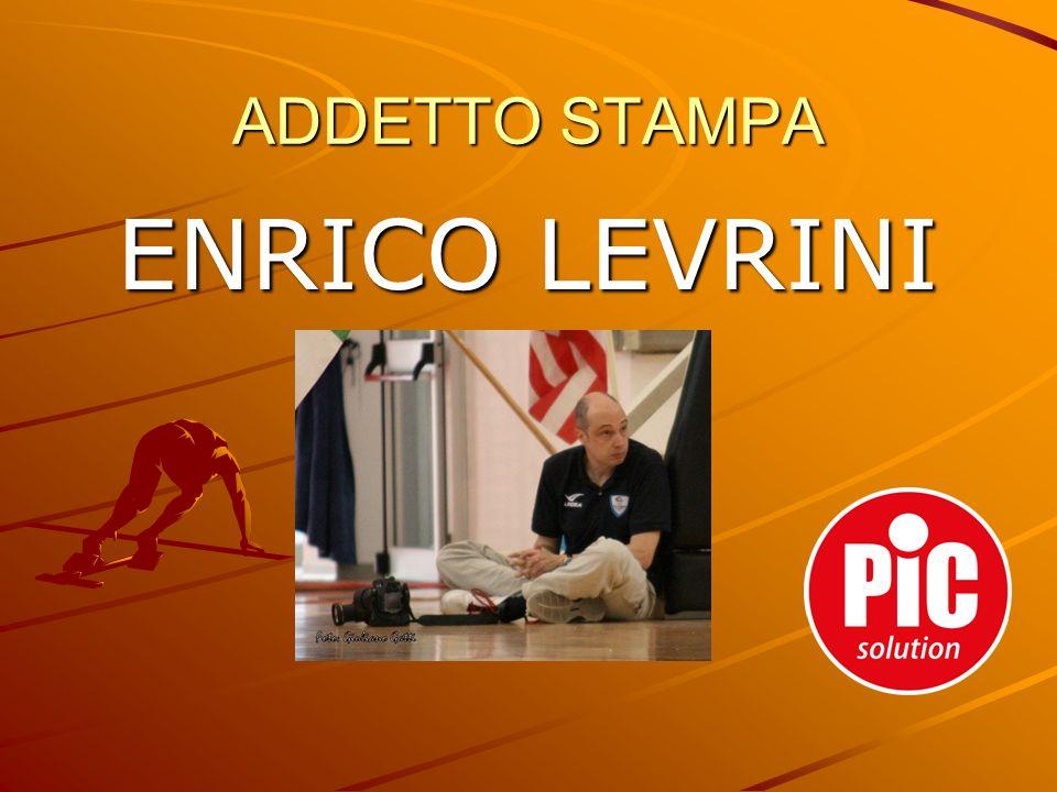 ADDETTO STAMPA ENRICO LEVRINI
