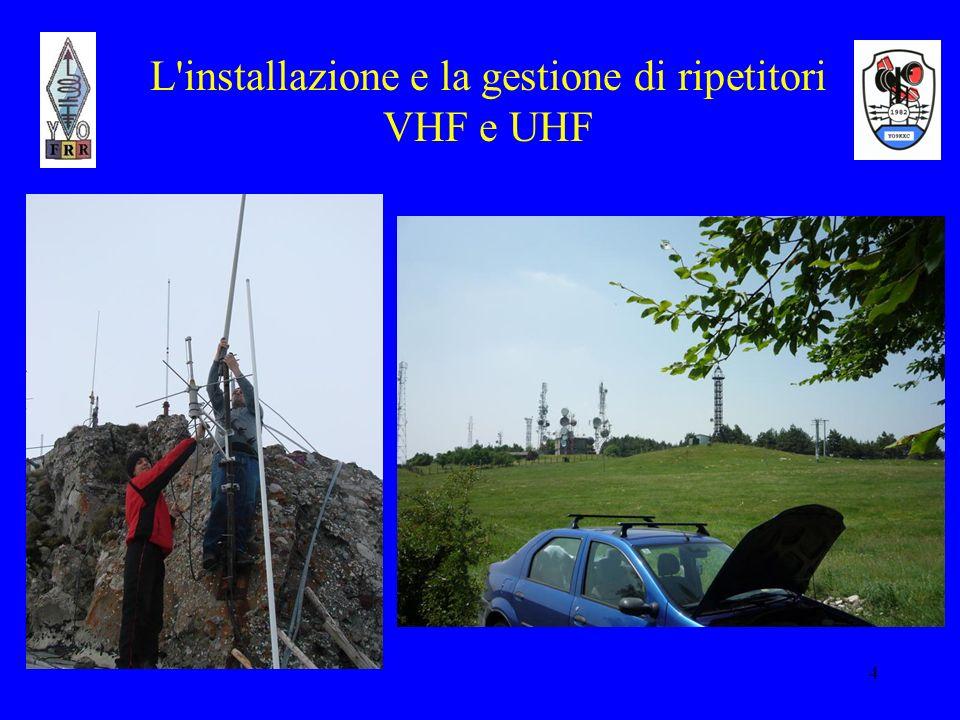 4 L'installazione e la gestione di ripetitori VHF e UHF