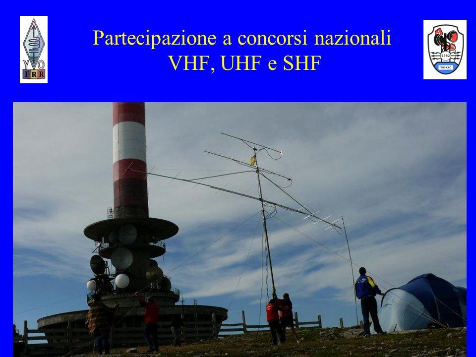 7 Partecipazione a concorsi nazionali VHF, UHF e SHF