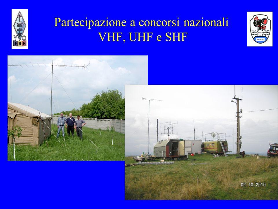 10 Partecipazione a concorsi internazionali VHF, UHF e SHF -FRR organizza il Campionato internazionale annuale VHF, UHF e SHF e radioclub affiliati 7(sette) concorsi internazionali; -Ogni anno partecipano a concorsi internazionali organizzati da altre federazioni di radioamatori e IARU