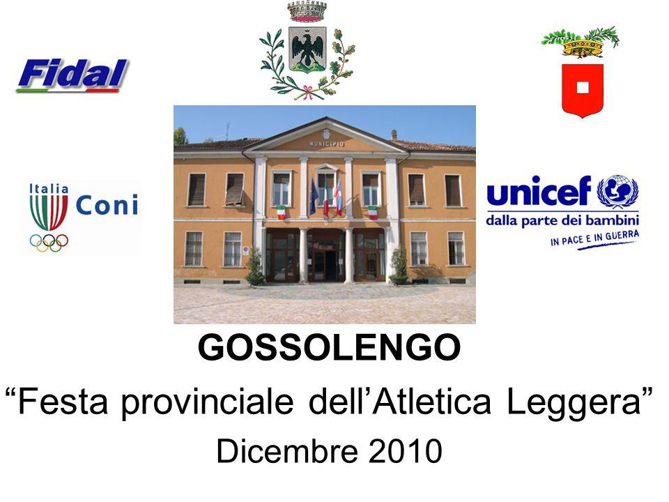 GOSSOLENGO Festa provinciale dellAtletica Leggera Dicembre 2010