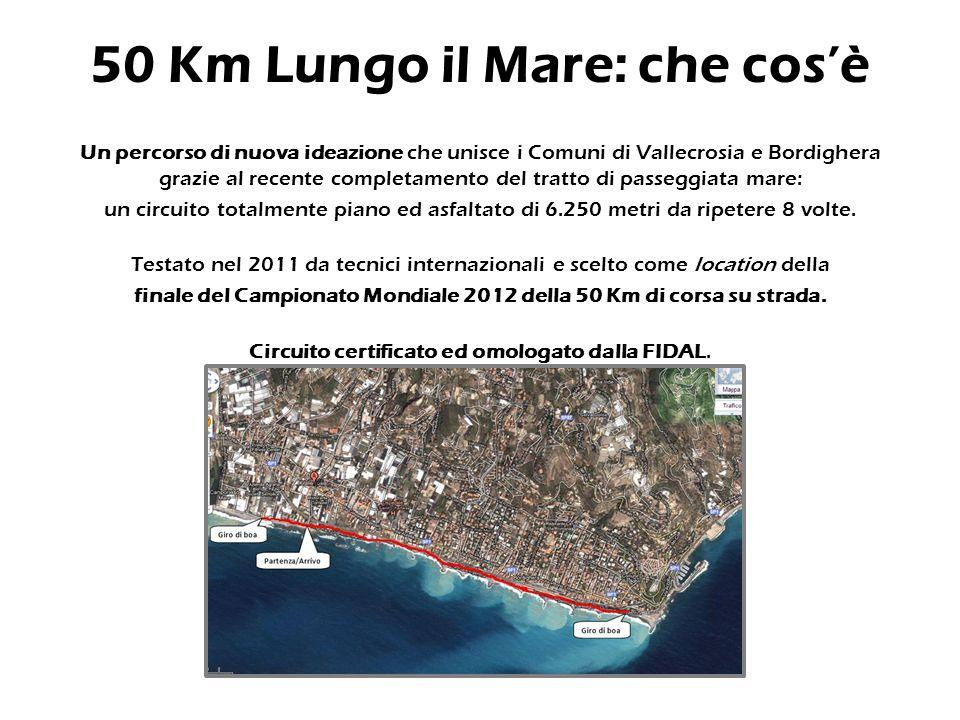 Nazionale - FIDAL 50 Km Lungo il Mare II edizione Campionato Italiano Individuale Assoluto e Master 50 Km Internazionale - IAU 50 Km World Trophy Final Prova finale del circuito mondiale di ultramaratona.