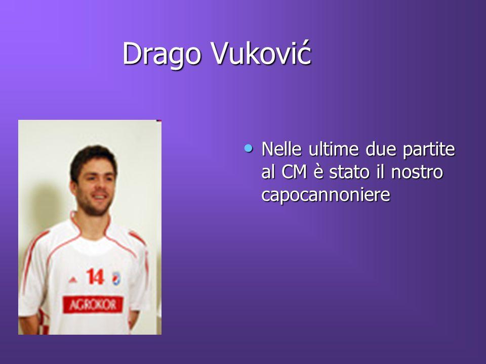 Drago Vuković Nelle ultime due partite al CM è stato il nostro capocannoniere Nelle ultime due partite al CM è stato il nostro capocannoniere