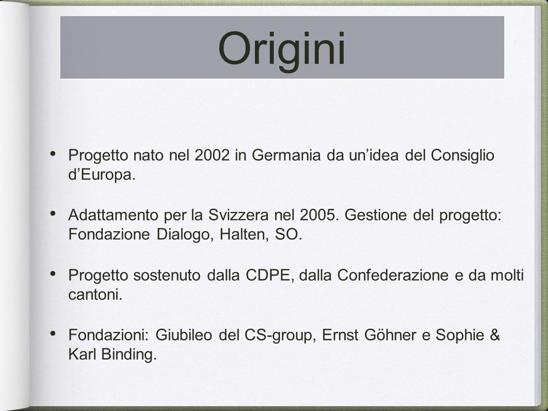 Progetto nato nel 2002 in Germania da unidea del Consiglio dEuropa.