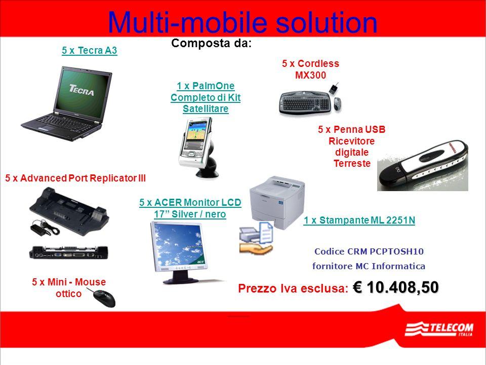 5 x ACER Monitor LCD 17 Silver / nero 5 x Penna USB Ricevitore digitale Terreste 10.408,50 Prezzo Iva esclusa: 10.408,50 5 x Mini - Mouse ottico 1 x S