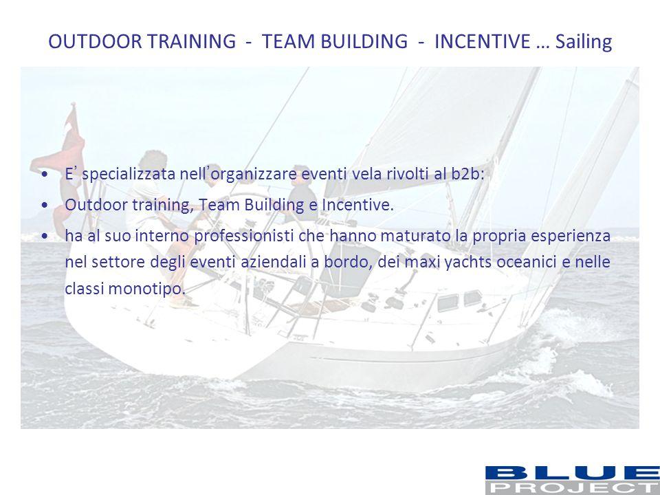 OUTDOOR TRAINING - TEAM BUILDING - INCENTIVE … Sailing E specializzata nellorganizzare eventi vela rivolti al b2b: Outdoor training, Team Building e I