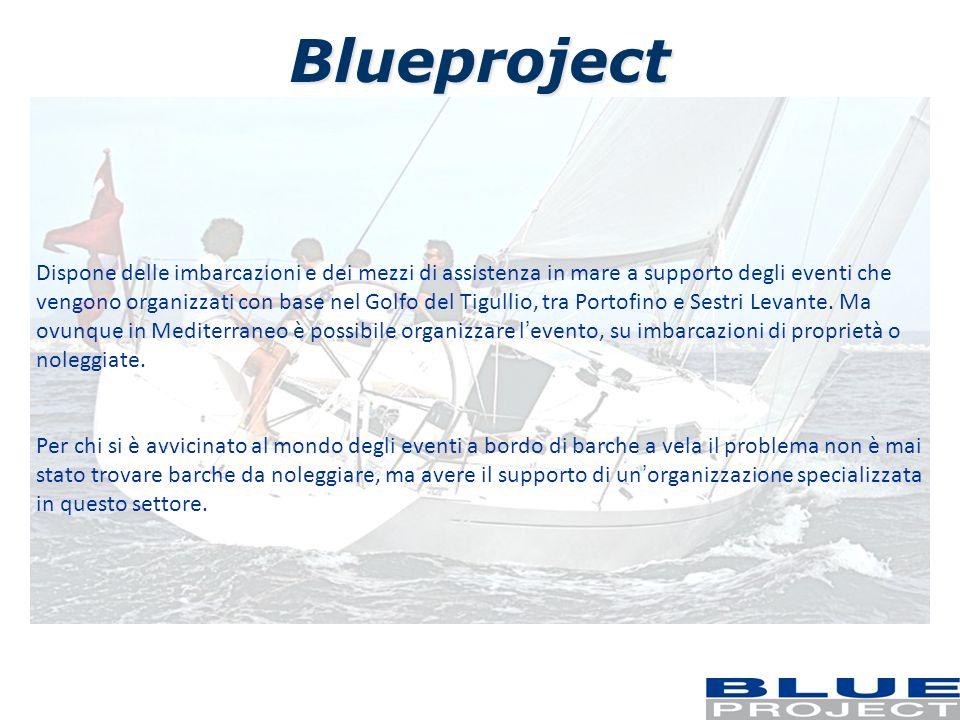 Blueproject Dispone delle imbarcazioni e dei mezzi di assistenza in mare a supporto degli eventi che vengono organizzati con base nel Golfo del Tigull