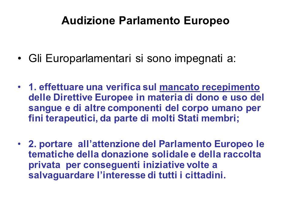 Gli Europarlamentari si sono impegnati a: 1.