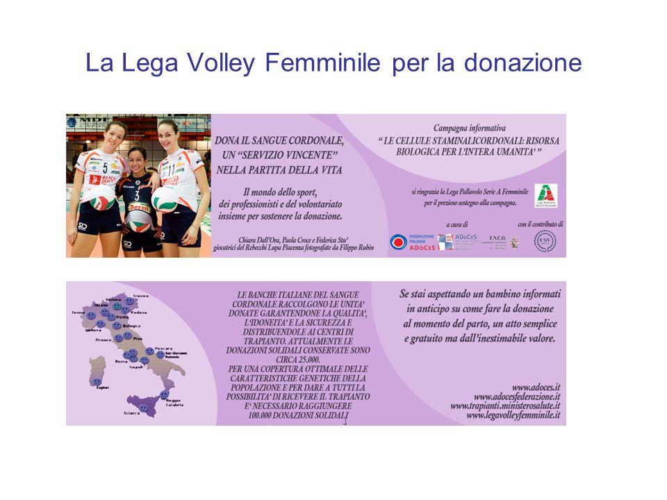La Lega Volley Femminile per la donazione
