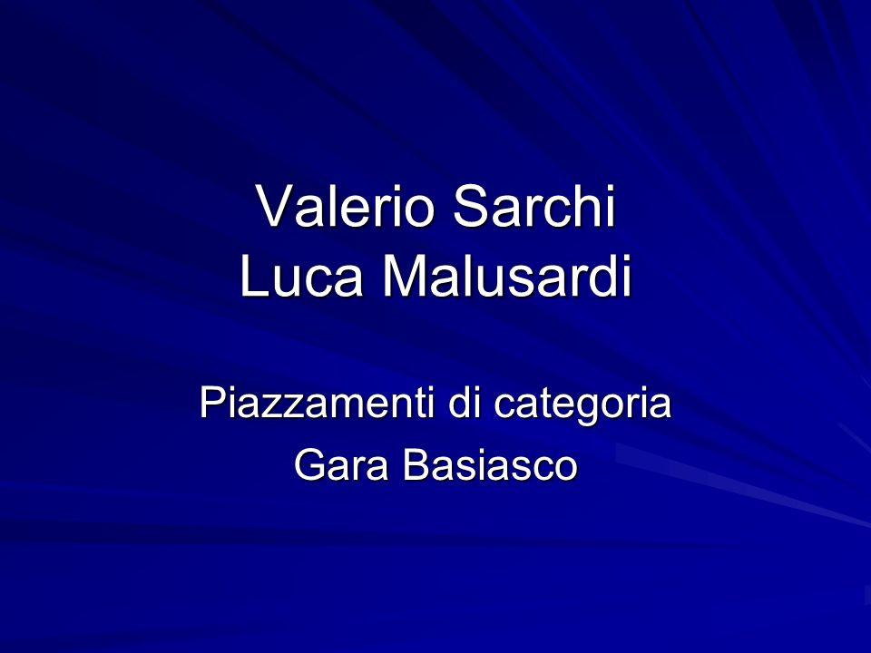 Valerio Sarchi Aristride Pernatsch Piazzamenti alla gara di Mortizza