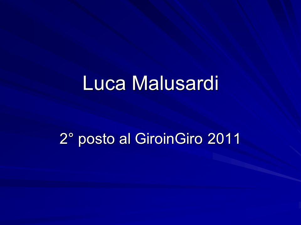 Luca Malusardi 2° posto al GiroinGiro 2011