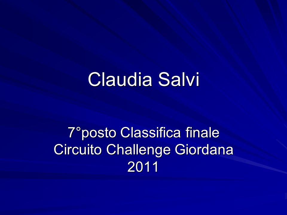 Claudia Salvi 7°posto Classifica finale Circuito Challenge Giordana 2011