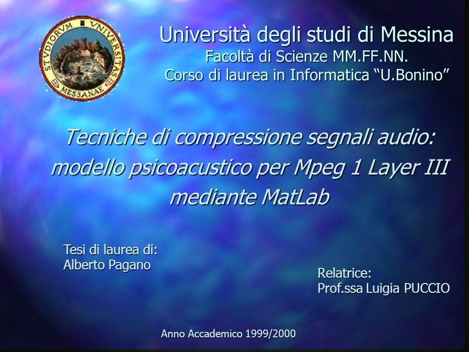 Università degli studi di Messina Facoltà di Scienze MM.FF.NN.