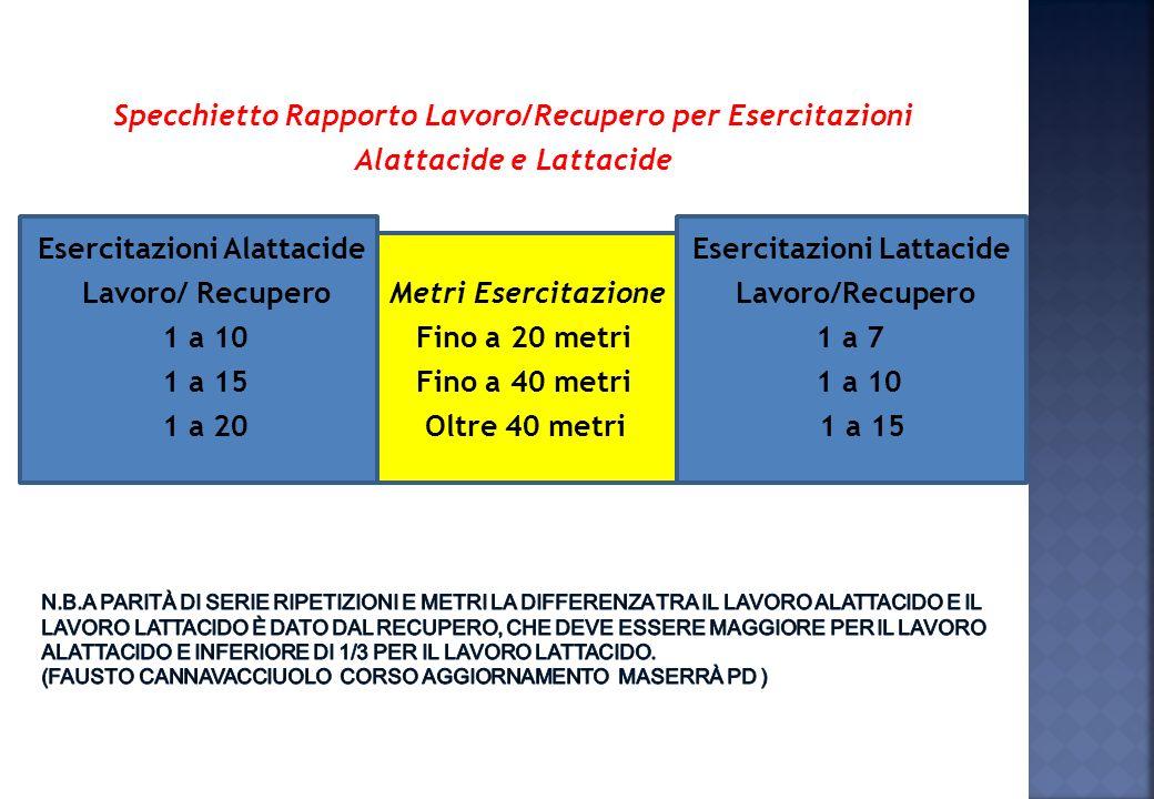 Non rispettando i recuperi completi dopo sforzi massimali, necessari per rendere efficace lallenamento della velocità, si spostano gli effetti allenan
