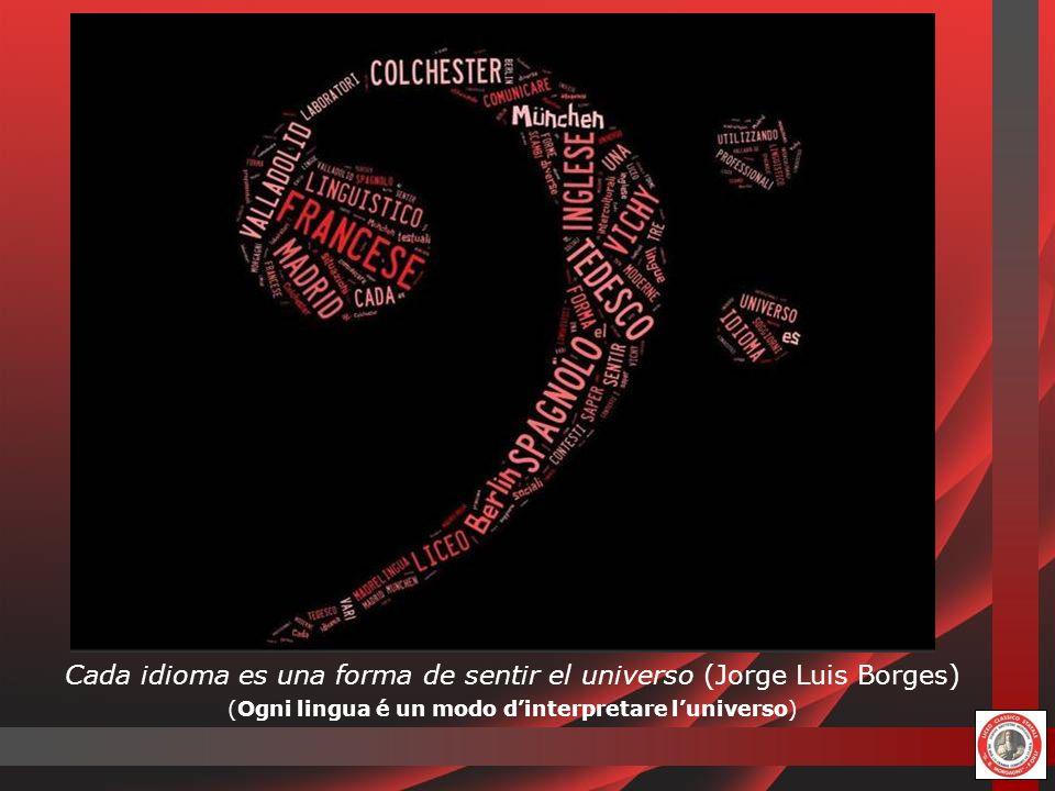 Cada idioma es una forma de sentir el universo (Jorge Luis Borges) (Ogni lingua é un modo dinterpretare luniverso)