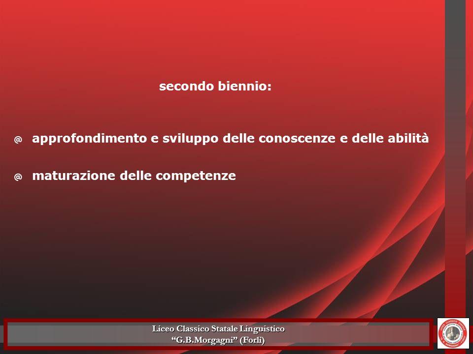 @ approfondimento e sviluppo delle conoscenze e delle abilità secondo biennio: @ maturazione delle competenze Liceo Classico Statale Linguistico G.B.M