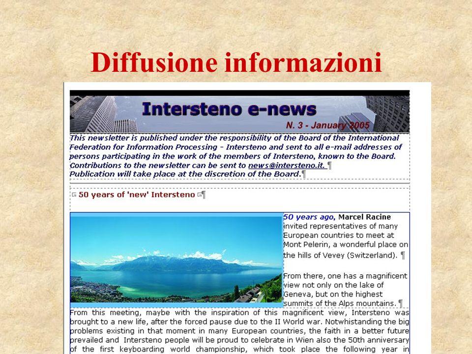 Diffusione informazioni